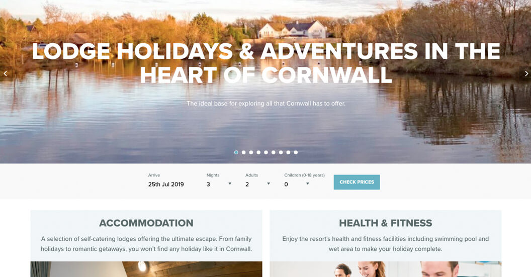 Waterside homepage